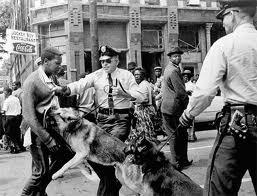 dog on Black man