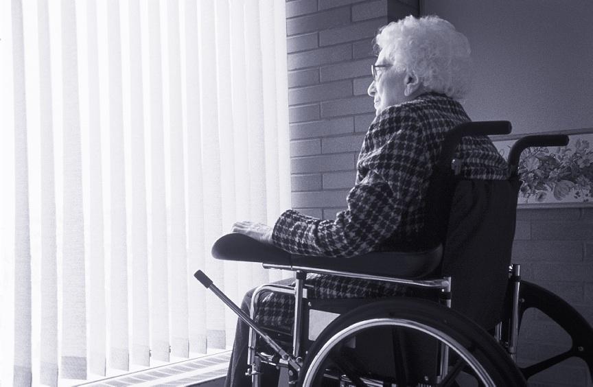 bw-senior-wheelchair-woman