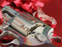 """'Firearms sales rise with weapons a popular holiday gift'. """"Another example of the charade of 'Christ'mas!"""