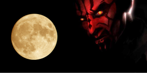 full moon and devil