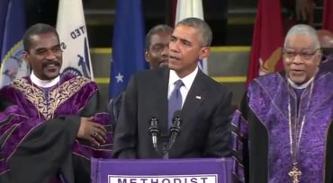 obam sings amazing grace