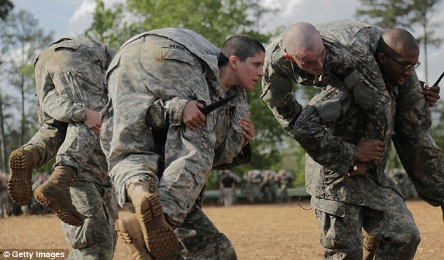 Multiple anonymous sources have reportedly come forward to claim that the female candidates for Ranger School, including 1st Lt Griest (pictured) were given extra training and lower standards Read more: http://www.dailymail.co.uk/news/article-3249690/First-women-pass-Ranger-School-given-extra-training-lowered-benchmarks-general-vowed-one-pass-sources-claim