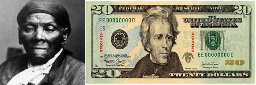 Harriet Tubman and twenty dollar bill