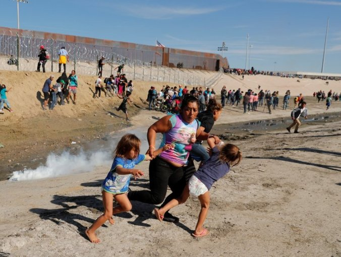 migrants getting gassed